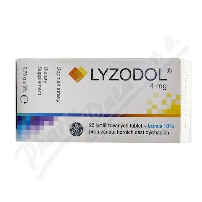 Zobrazit detail - LYZODOL 4mg 20 lyofilizovaných tablet