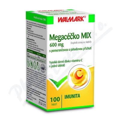Zobrazit detail - Walmark Megacéčko Mix Vitamín C 600mg tbl. 100