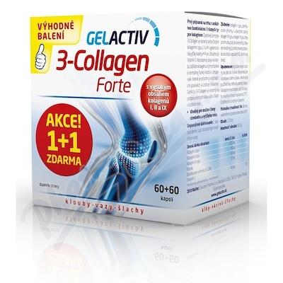 GelActiv 3-Collagen Forte cps.60+60 Zdarma