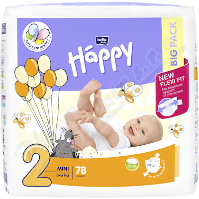 Zobrazit detail - Happy Mini dětské pleny 78ks