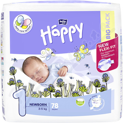Zobrazit detail - Happy Newborn d�tsk� pleny 78ks