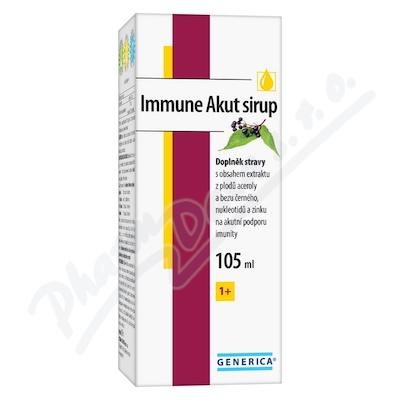 Zobrazit detail - Immune Akut sirup 105 ml Generica