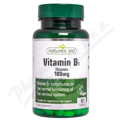 Zobrazit detail - Vitamín B1 (Thiamin) 100mg tbl. 90