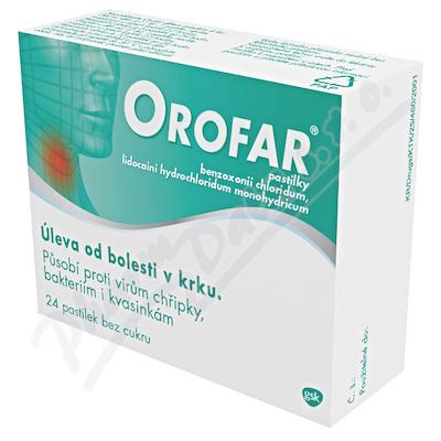Zobrazit detail - Orofar 1mg-1mg pastilky 24ks