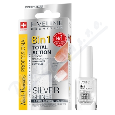 Zobrazit detail - EVELINE SPA Nail Total 8v1 Silver kondicion�r 12ml