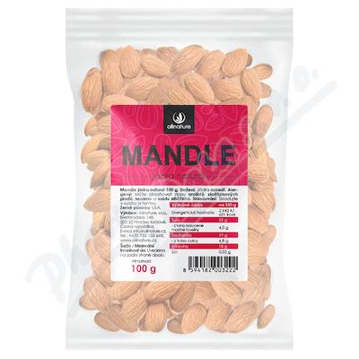 Zobrazit detail - Allnature Mandle jádra natural 100 g