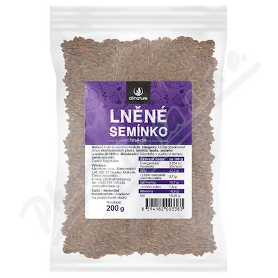 Zobrazit detail - Allnature Lněné semínko hnědé 200 g