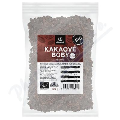 Zobrazit detail - Allnature Kakaové boby drcené BIO RAW 100 g