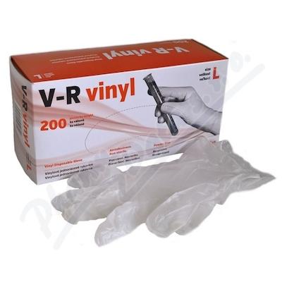 Rukavice vinylové V-R vel.L bezprašné 200ks