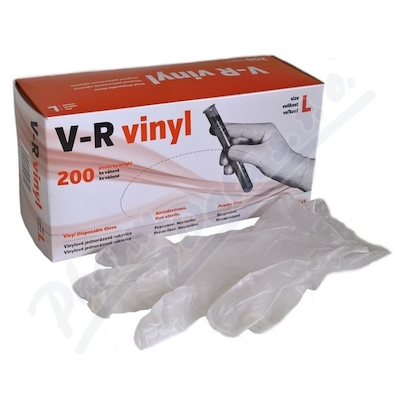 Zobrazit detail - Rukavice vinylové V-R vel. L bezprašné 200ks