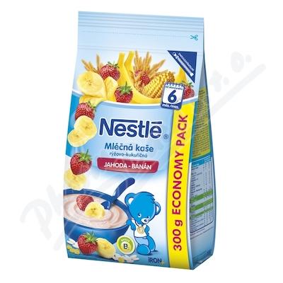 NESTLÉ Mléčná kaše rýž-kukuřičná jahoda-banán 300g