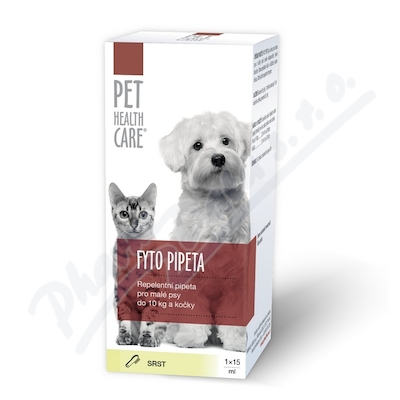 Zobrazit detail - PET HEALTH CARE Fytopipeta pes 10kg kočka 1x15 ml