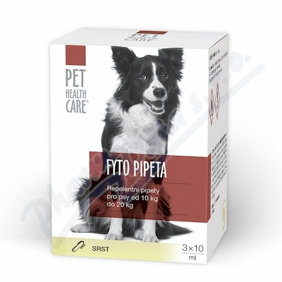 Zobrazit detail - PET HEALTH CARE Fytopipeta pes 10-20 kg 3x 10 ml