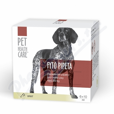 Zobrazit detail - PET HEALTH CARE Fytopipeta pes od 20 kg 6x 10 ml