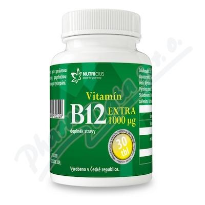 Zobrazit detail - Vitamín B12 EXTRA 1000mcg tbl. 30