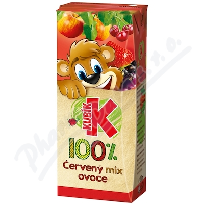 Zobrazit detail - Kubík 100% červený mix ovoce 200ml TP