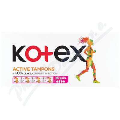 Zobrazit detail - KOTEX Tampony Active Super 16ks