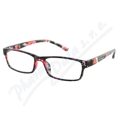 Zobrazit detail - Brýle čtecí +3. 50 UV400 černo-květinové