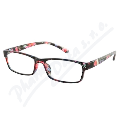 Zobrazit detail - Brýle čtecí +3. 00 UV400 černo-květinové