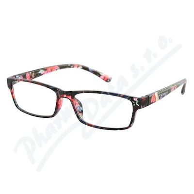 Zobrazit detail - Brýle čtecí +1. 00 UV400 černo-květinové