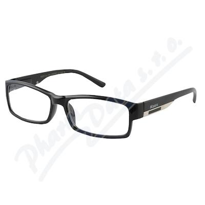 Zobrazit detail - Brýle čtecí +1. 00 FLEX UV400 černé s kov. doplňkem