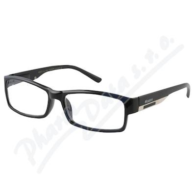 Zobrazit detail - Brýle čtecí +3. 50 FLEX UV400 černé s kov. doplňkem