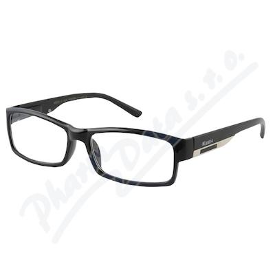 Zobrazit detail - Brýle čtecí +3. 00 FLEX černé s kov. doplňkem