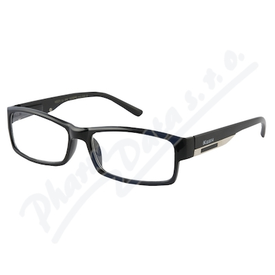 Zobrazit detail - Brýle čtecí +2. 50 FLEX černé s kov. doplňkem