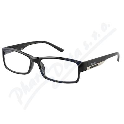 Zobrazit detail - Brýle čtecí +2. 00 FLEX UV400 černé s kov. doplňkem