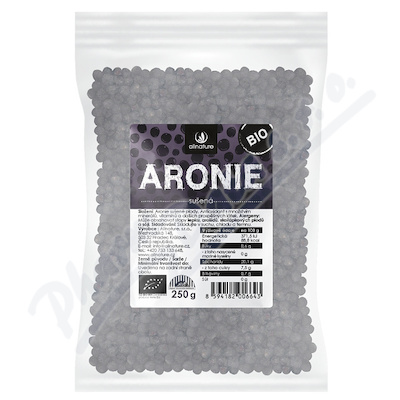 Zobrazit detail - Allnature Aronie černý jeřáb BIO 250 g