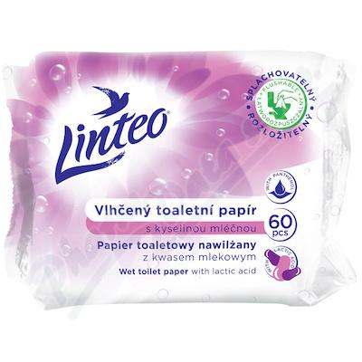Zobrazit detail - Toaletní papír LINTEO vlhčený 60ks kyselina mléčná