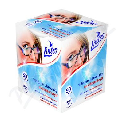 Zobrazit detail - Vlhčené ubrousky Linteo na čištění brýlí 50ks