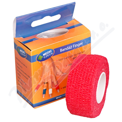 Rychlonáplast elastická 25mm x 450cm červená