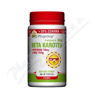 Zobrazit detail - Beta Karot. 6mg+Pantenol 10mg+PABA 10mg tob. 100+30