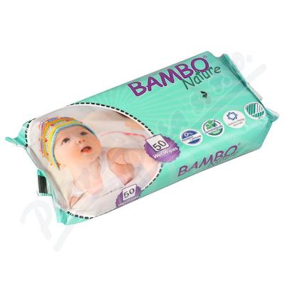 Zobrazit detail - Bambo Nature dětské vlhčené ubrousky 50 ks