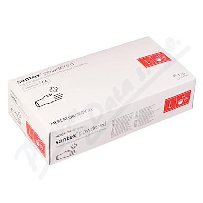 Zobrazit detail - Rukavice latexové Santex powdered L 100ks
