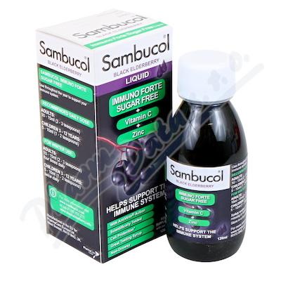 Zobrazit detail - SAMBUCOL Immuno Forte Sirup dia+vit. C+zinek 120ml