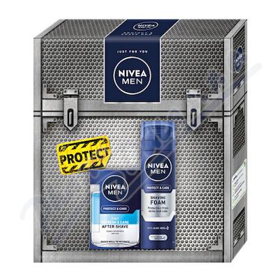 Zobrazit detail - NIVEA set Men Protect&Care voda po hol. 2v1+hol. gel