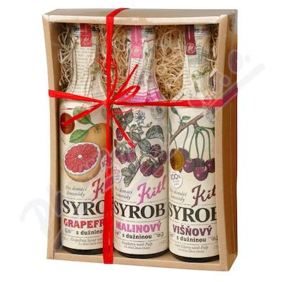 Zobrazit detail - Kitl Syrob Grep+Višeň+Malina 3x 500ml dárk.  balení