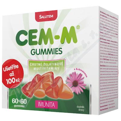 Zobrazit detail - CEM-M gummies Imunita tbl. 60+60 Dárk.  balení 2018
