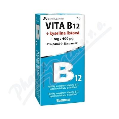 Zobrazit detail - Vita B12 + kyselina listová 1 mg-400mcg tbl. 30