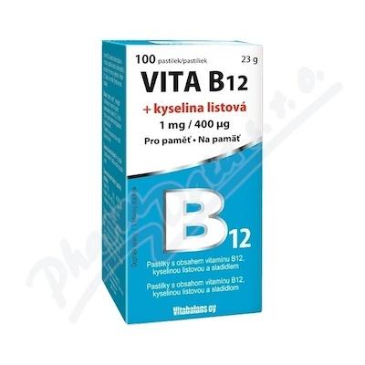 Zobrazit detail - Vita B12 + kyselina listová 1 mg-400mcg tbl. 100