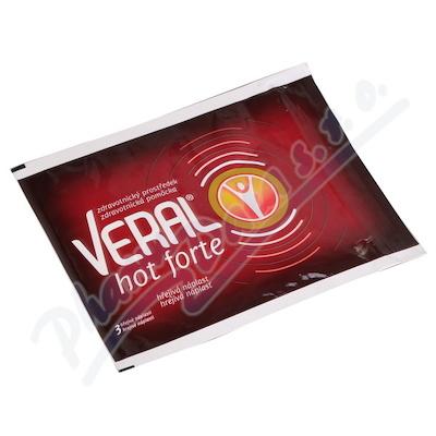 Zobrazit detail - Veral Hot forte hřejivá náplast 3ks