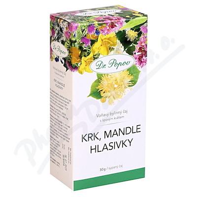 Dr.Popov Čaj Krk Mandle Hlasivky 50g