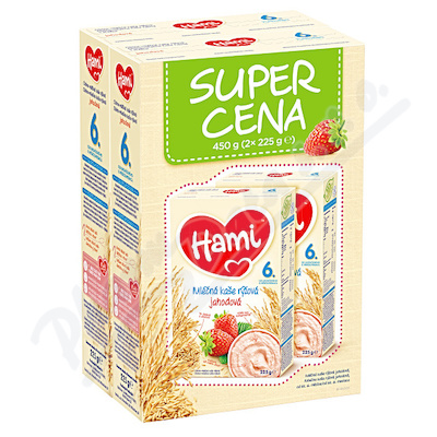 Zobrazit detail - Hami kaše Super Cena 2x225g ml.  rýž.  jahodová