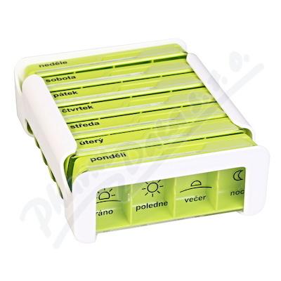 Dávkovač na léky - zelený ANABOX 7 dní COMPACT
