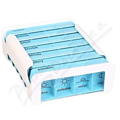 Zobrazit detail - Dávkovač na léky - modrý ANABOX 7 dní COMPACT