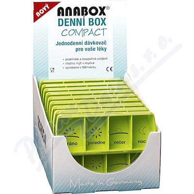 Zobrazit detail - Dávkovač na léky - zelený ANABOX denní box COMPACT