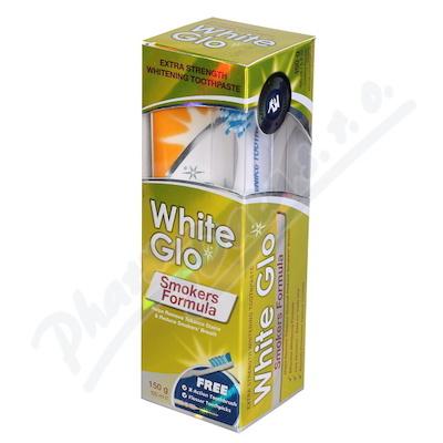 Zobrazit detail - WHITE GLO Bělící pasta Smokers 150g + kart. na zuby