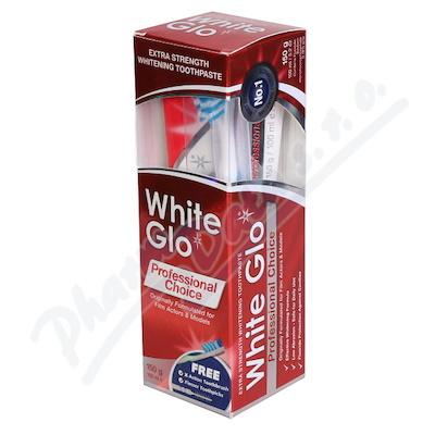 Zobrazit detail - WHITE GLO Profesionální bělící pasta 150g+kartáček